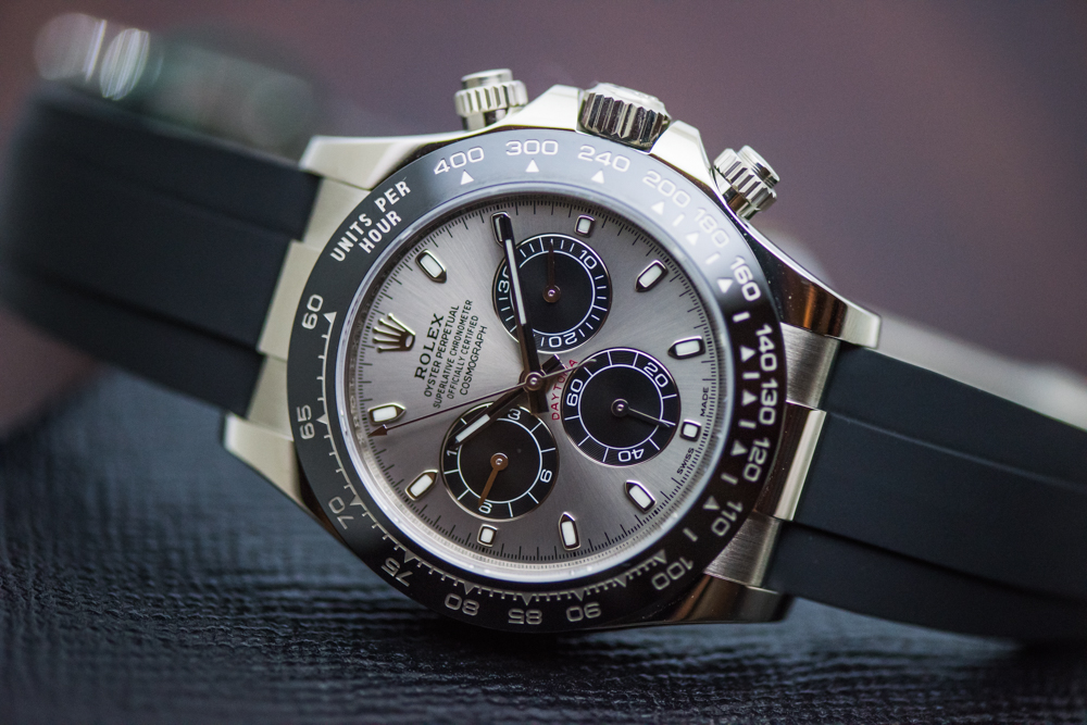 Rolex has upgraded a lot with its materials and now many Daytona is mounted with ceramic bezel.